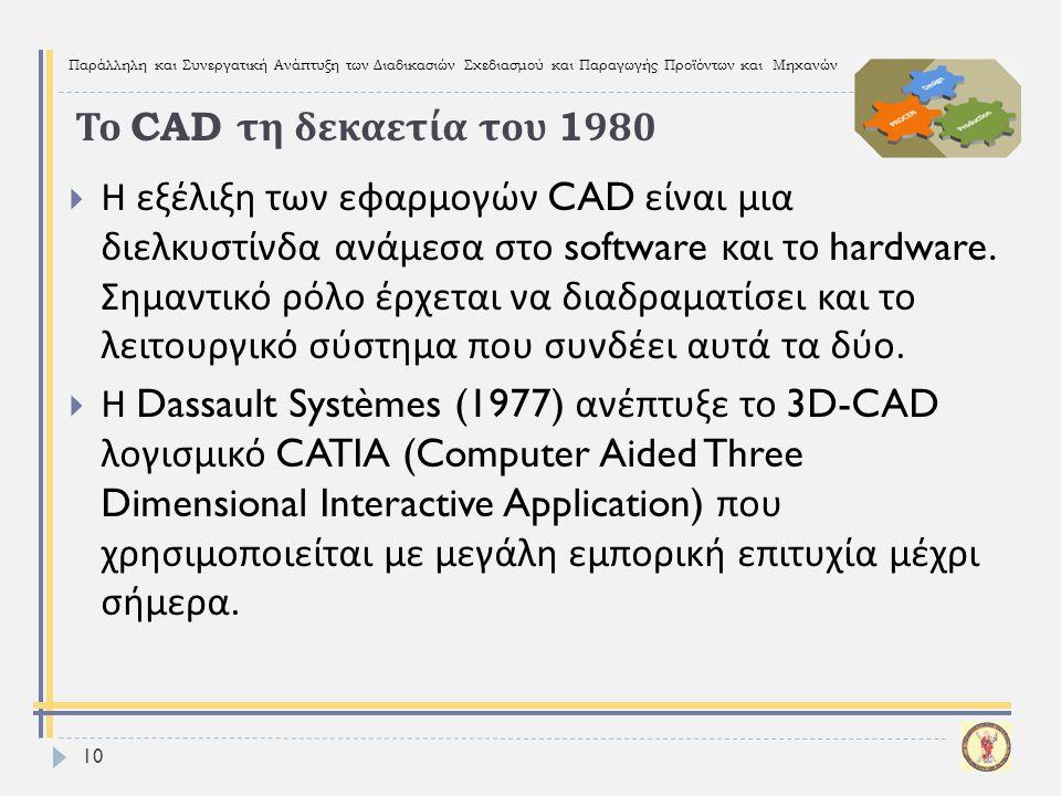Το CAD τη δεκαετία του 1980