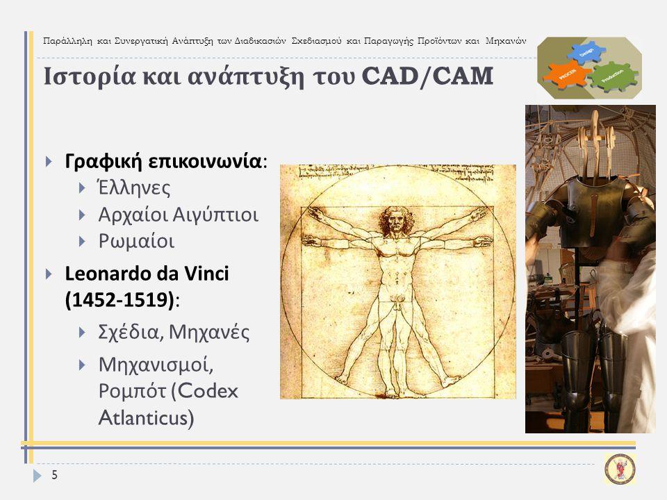 Ιστορία και ανάπτυξη του CAD/CAM