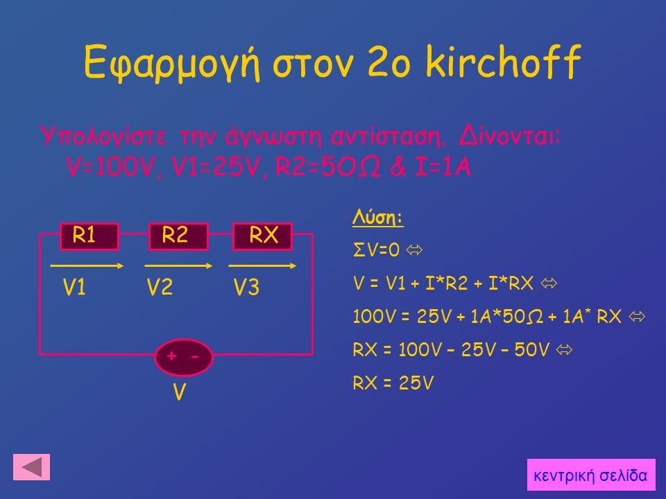 Εφαρμογή στον 2o kirchoff