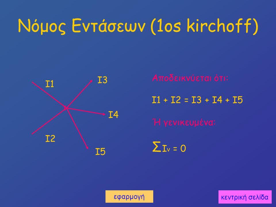 Νόμος Εντάσεων (1os kirchoff)
