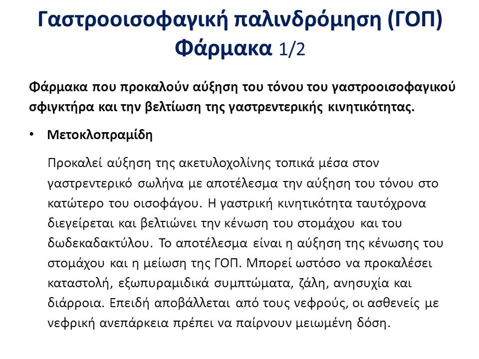 Γαστροοισοφαγική παλινδρόμηση (ΓΟΠ) Φάρμακα 2/2