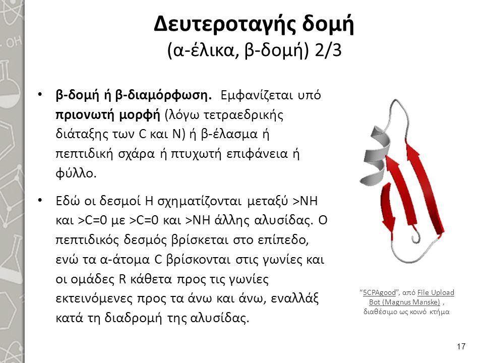 Δευτεροταγής δομή (α-έλικα, β-δομή) 3/3