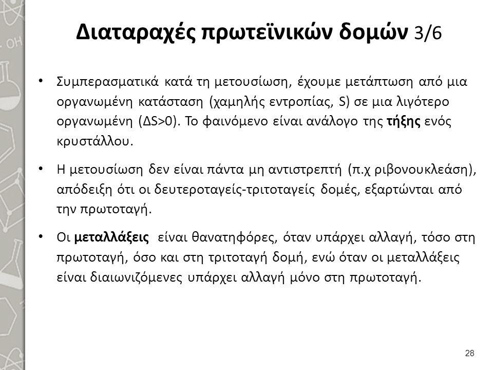 Διαταραχές πρωτεϊνικών δομών 4/6