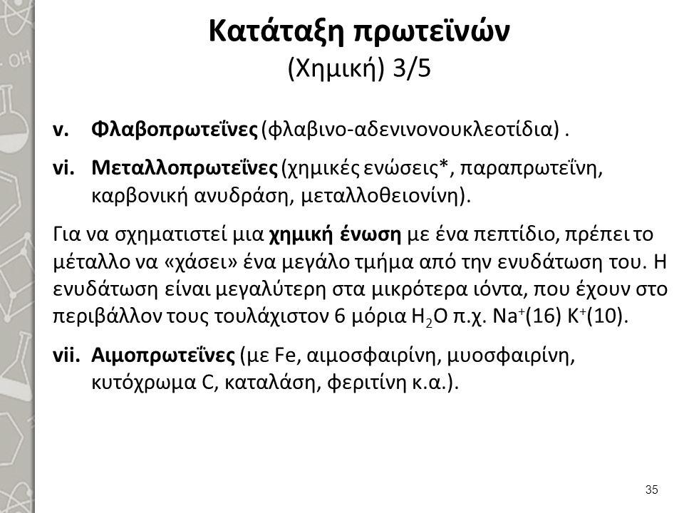 Κατάταξη πρωτεϊνών (Χημική) 4/5