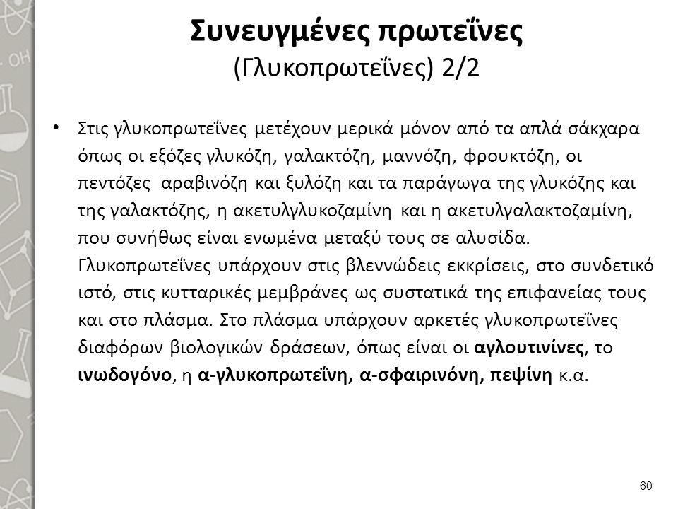 Συνευγμένες πρωτεΐνες (Λιποπρωτεΐνες) 1/7