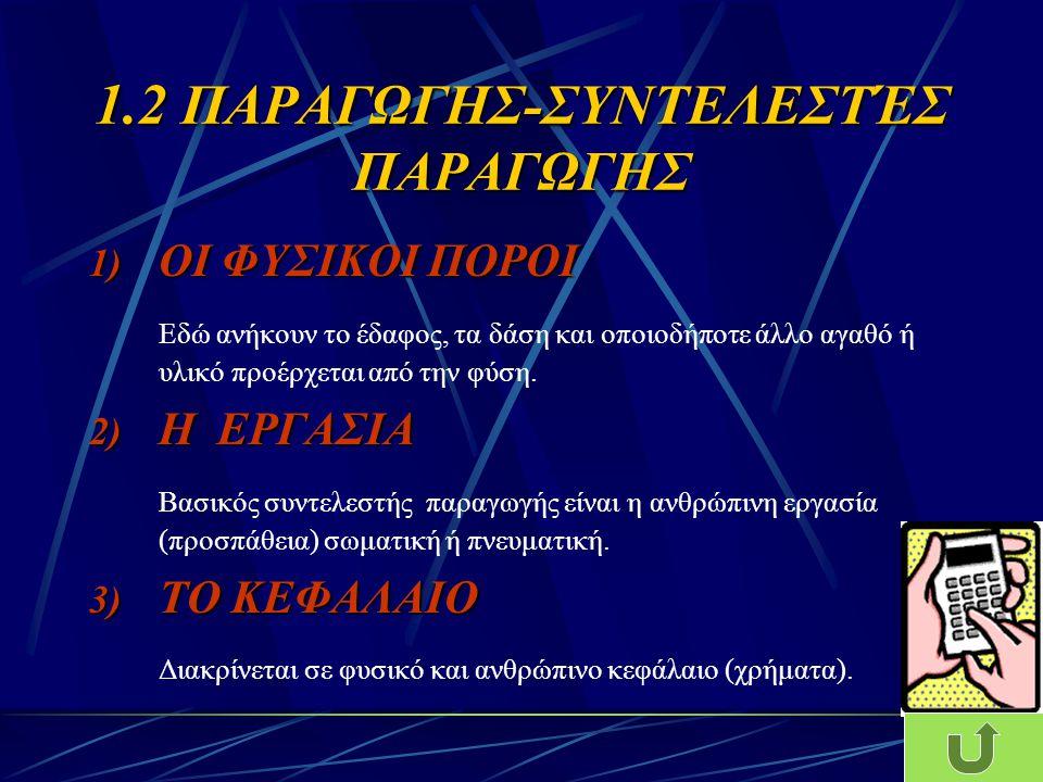 1.2 ΠΑΡΑΓΩΓΗΣ-ΣΥΝΤΕΛΕΣΤΈΣ ΠΑΡΑΓΩΓΗΣ