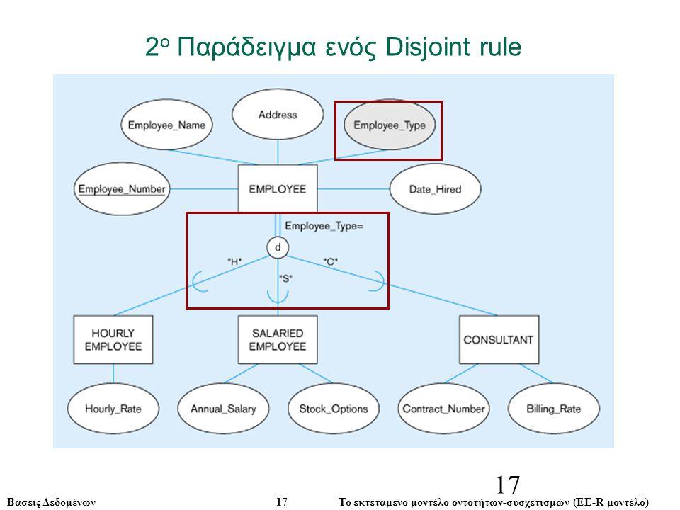 2ο Παράδειγμα ενός Disjoint rule