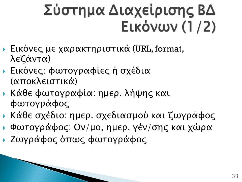 Σύστημα Διαχείρισης ΒΔ Εικόνων (1/2)