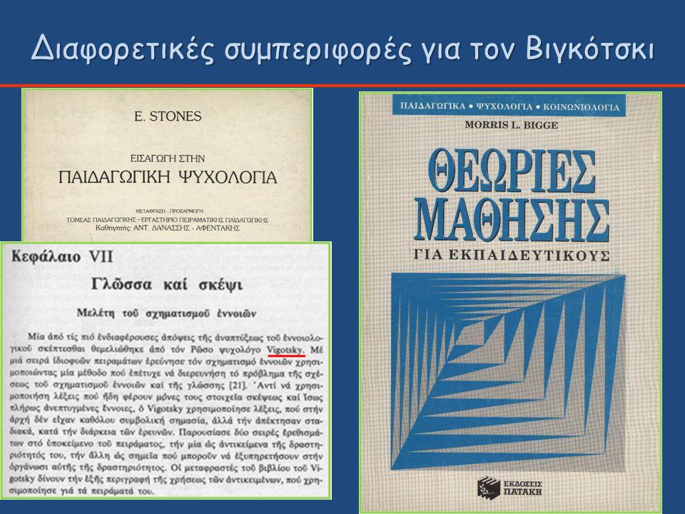 Διαφορετικές συμπεριφορές για τον Βιγκότσκι