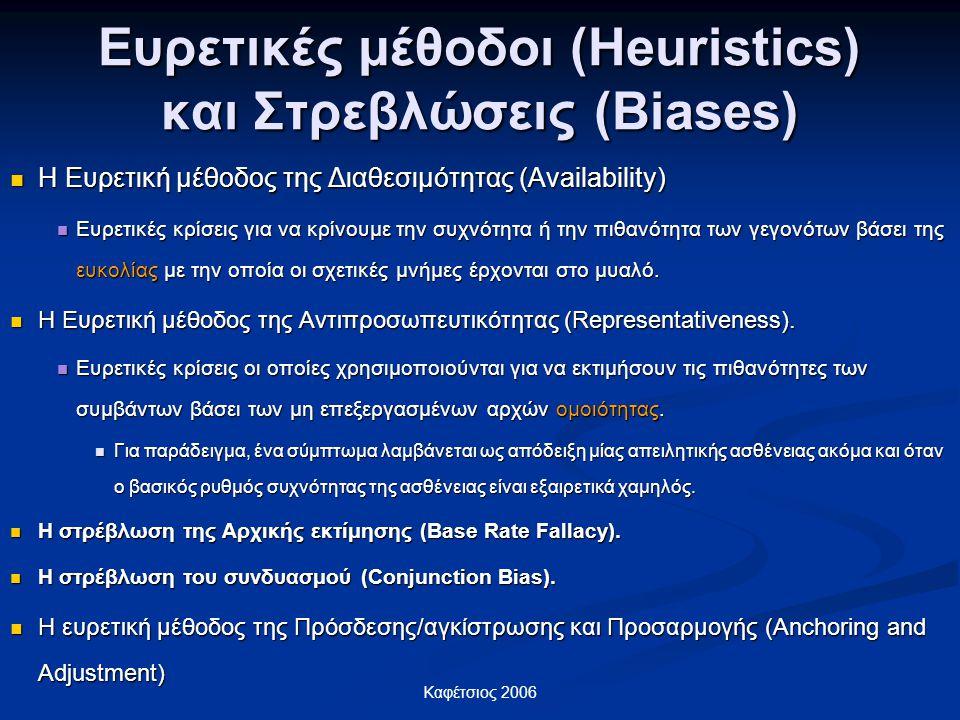 Ευρετικές μέθοδοι (Heuristics) και Στρεβλώσεις (Biases)
