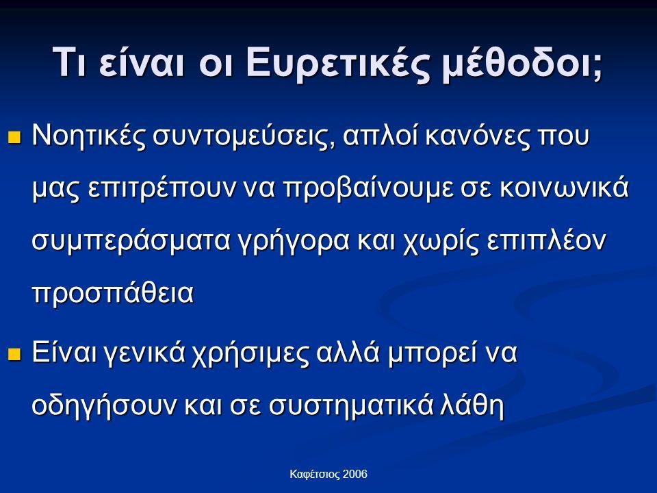 Τι είναι οι Ευρετικές μέθοδοι;