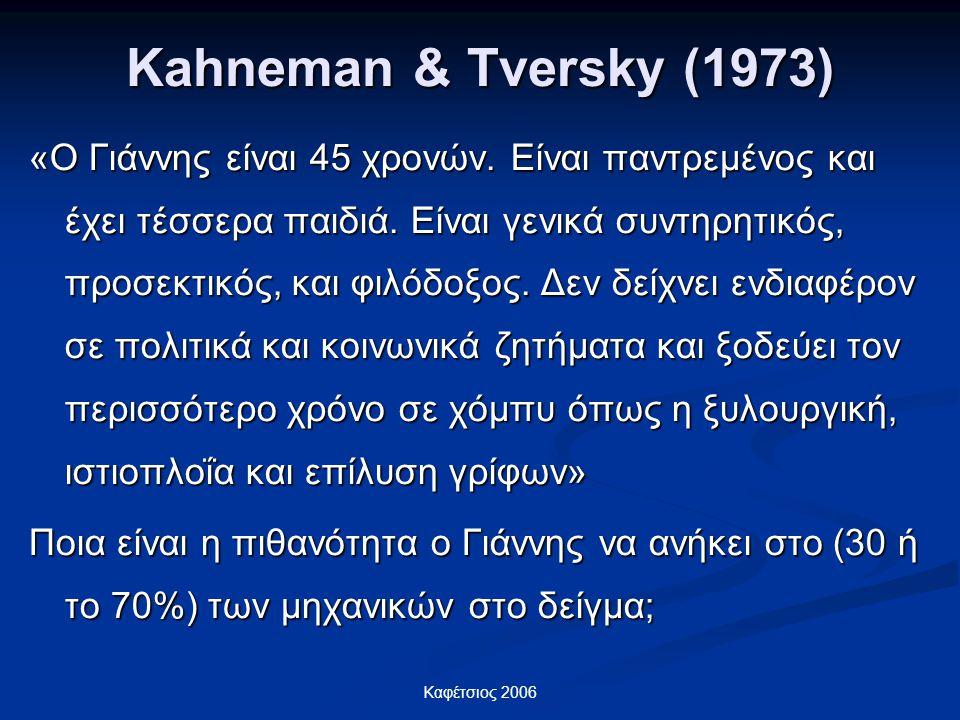Kahneman & Tversky (1973)