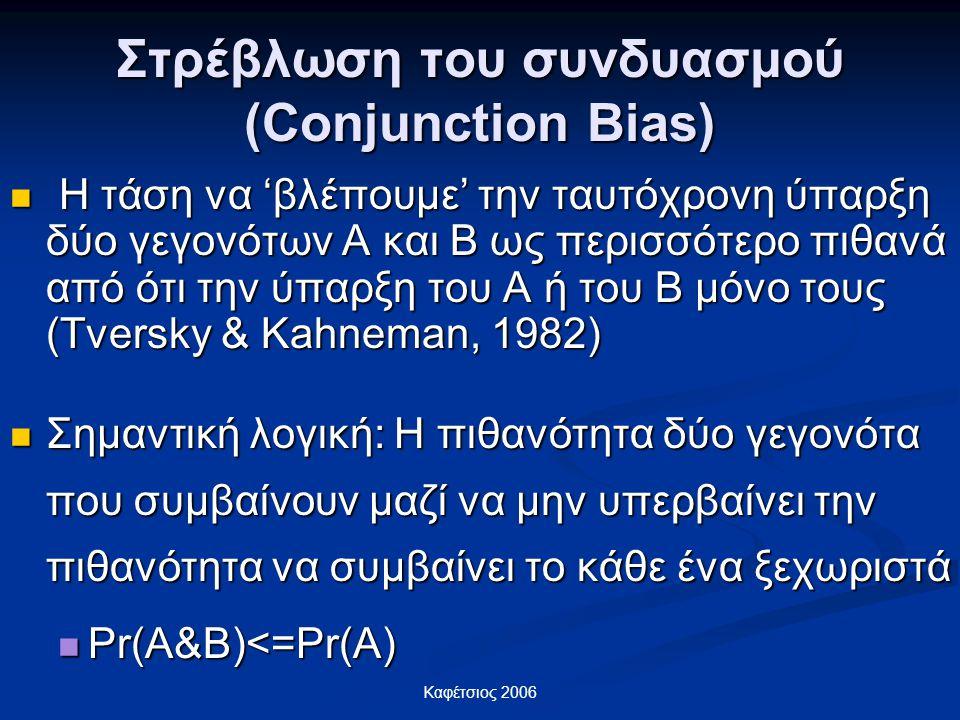 Στρέβλωση του συνδυασμού (Conjunction Bias)