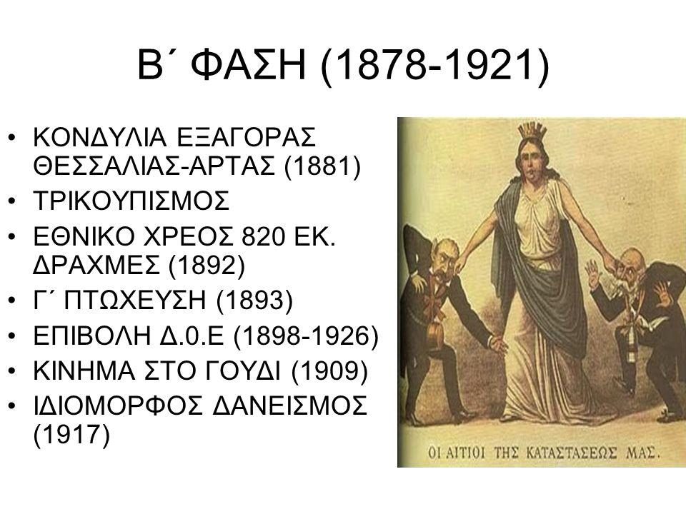 Β΄ ΦΑΣΗ (1878-1921) KΟΝΔΥΛΙΑ ΕΞΑΓΟΡΑΣ ΘΕΣΣΑΛΙΑΣ-ΑΡΤΑΣ (1881)