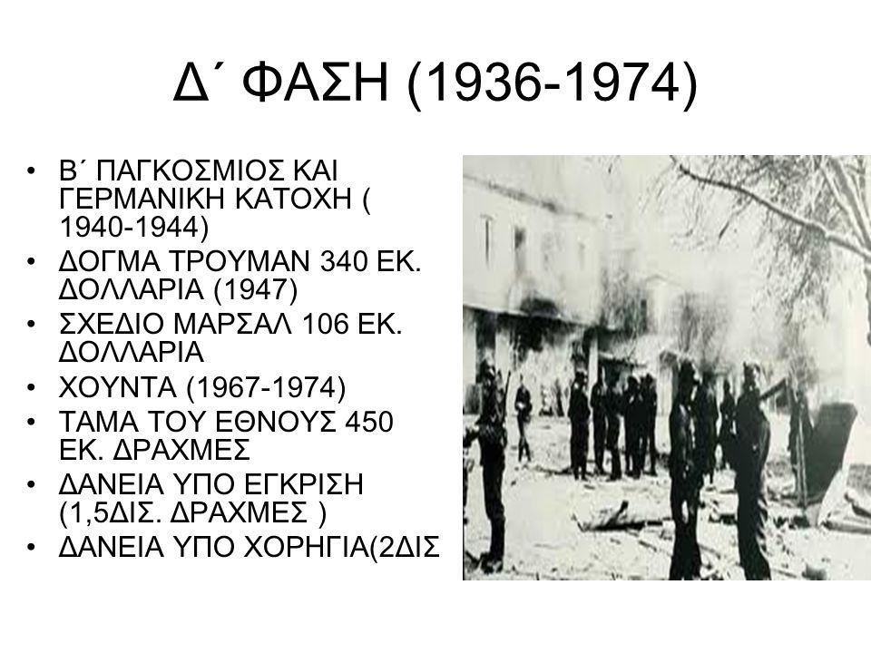 Δ΄ ΦΑΣΗ (1936-1974) Β΄ ΠΑΓΚΟΣΜΙΟΣ ΚΑΙ ΓΕΡΜΑΝΙΚΗ ΚΑΤΟΧΗ ( 1940-1944)