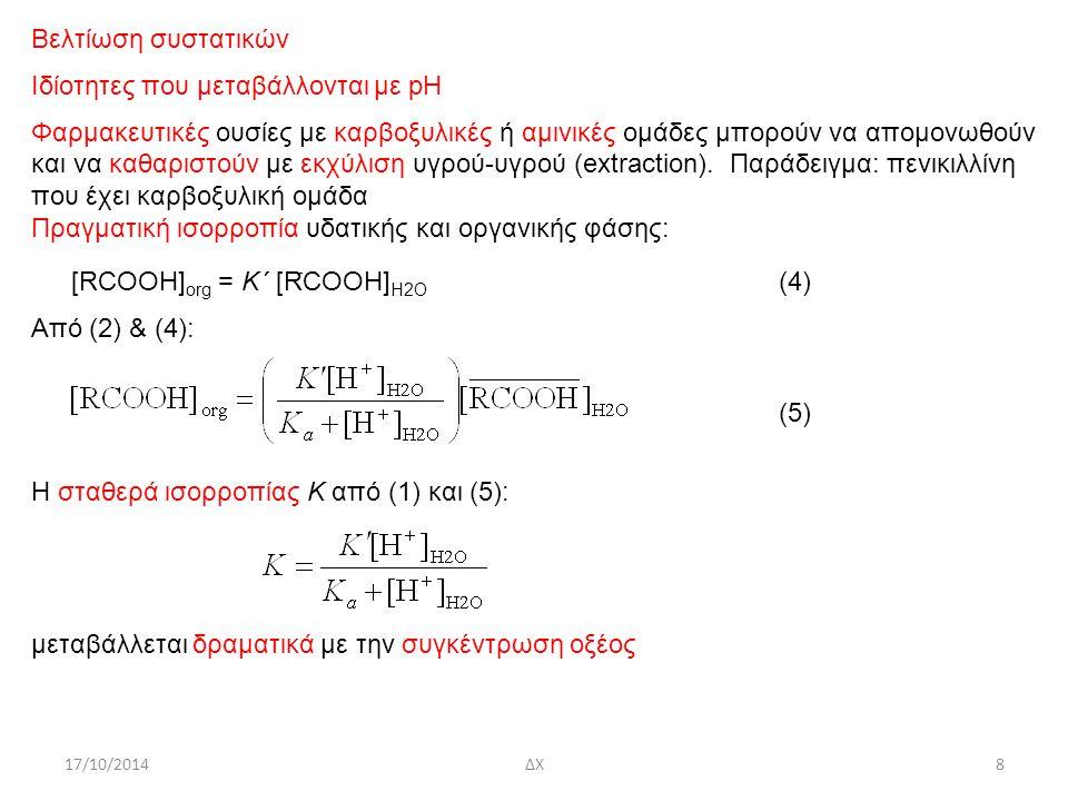 Ιδίοτητες που μεταβάλλονται με pH