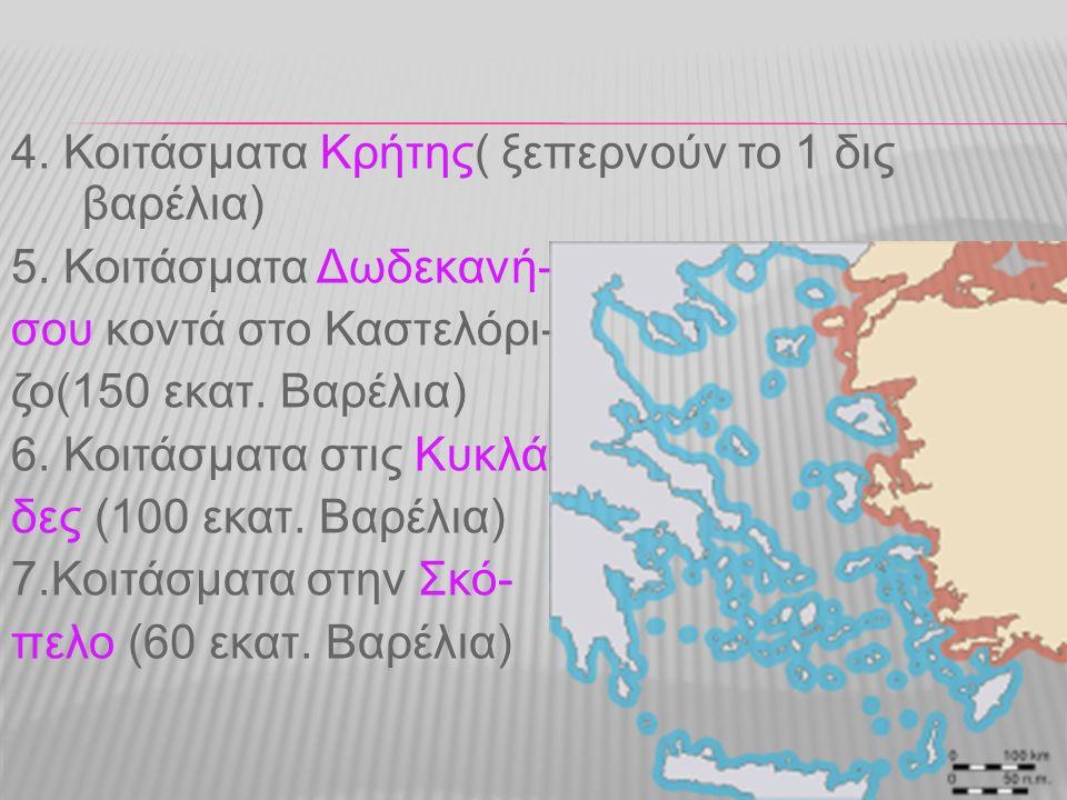 4. Κοιτάσματα Κρήτης( ξεπερνούν το 1 δις βαρέλια)