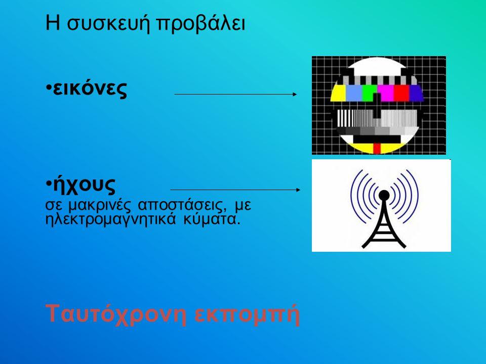 Ταυτόχρονη εκπομπή Η συσκευή προβάλει εικόνες ήχους