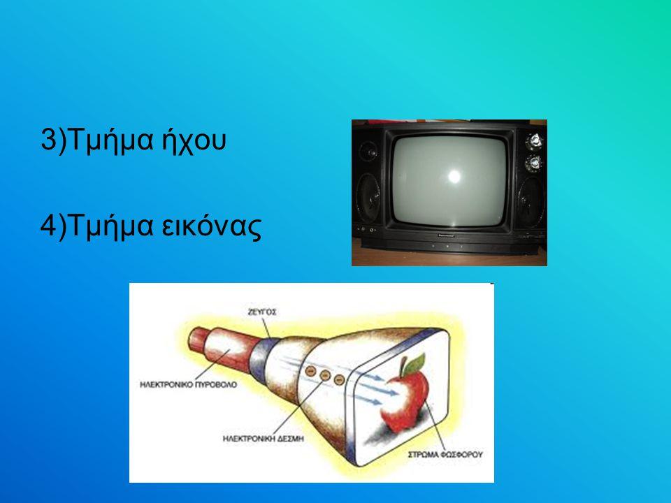 3)Τμήμα ήχου 4)Τμήμα εικόνας