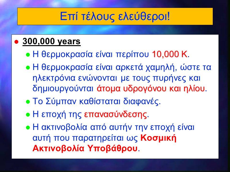 Επί τέλους ελεύθεροι! 300,000 years