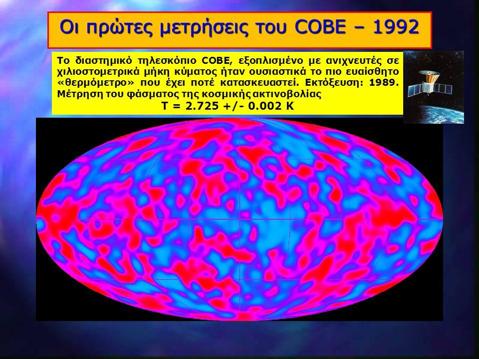 Οι πρώτες μετρήσεις του COBE – 1992