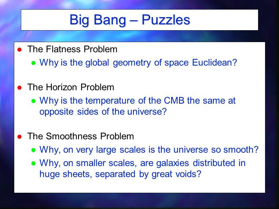 Big Bang – Puzzles The Flatness Problem