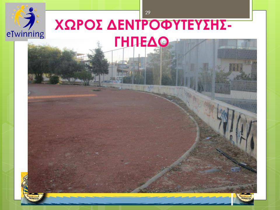 ΧΩΡΟΣ ΔΕΝΤΡΟΦΥΤΕΥΣΗΣ- ΓΗΠΕΔΟ