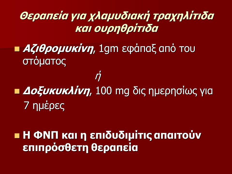 Θεραπεία για χλαμυδιακή τραχηλίτιδα και ουρηθρίτιδα