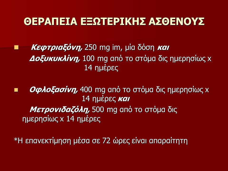 ΘΕΡΑΠΕΙΑ ΕΞΩΤΕΡΙΚΗΣ ΑΣΘΕΝΟΥΣ