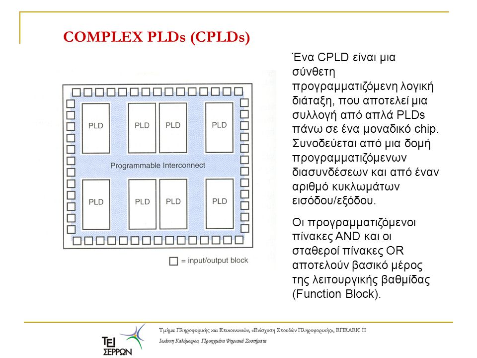 COMPLEX PLDs (CPLDs)