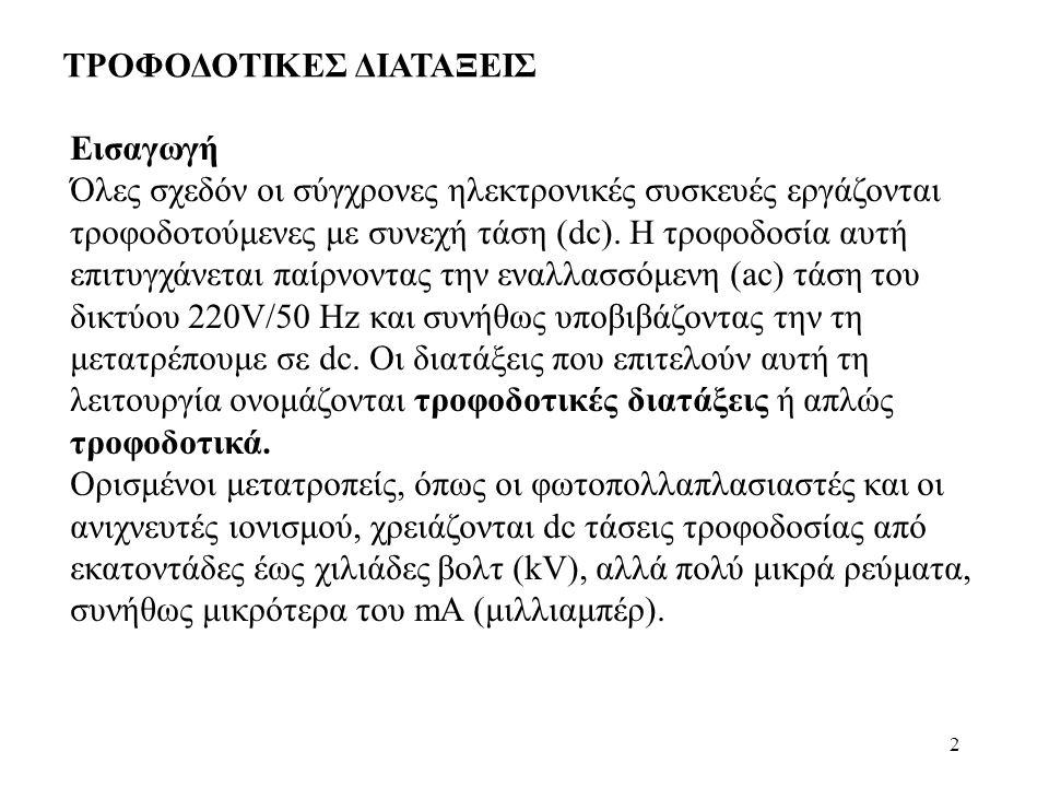 ΤΡΟΦΟΔΟΤΙΚΕΣ ΔΙΑΤΑΞΕΙΣ