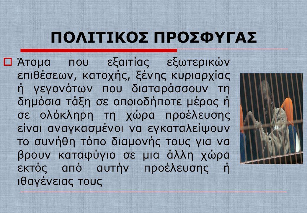 ΠΟΛΙΤΙΚΟΣ ΠΡΟΣΦΥΓΑΣ