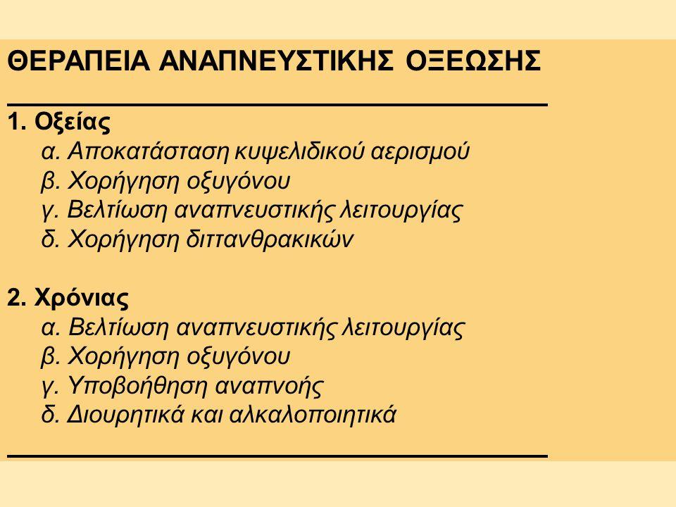ΘΕΡΑΠΕΙΑ ΑΝΑΠΝΕΥΣΤΙΚΗΣ ΟΞΕΩΣΗΣ
