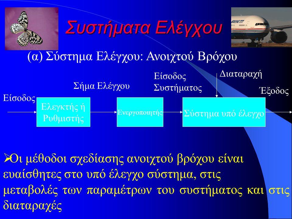Συστήματα Ελέγχου (α) Σύστημα Ελέγχου: Ανοιχτού Βρόχου