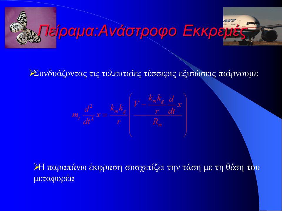 Πείραμα:Ανάστροφο Εκκρεμές