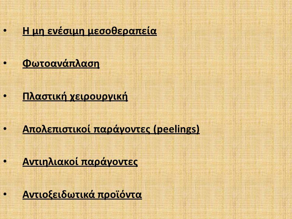Η μη ενέσιμη μεσοθεραπεία