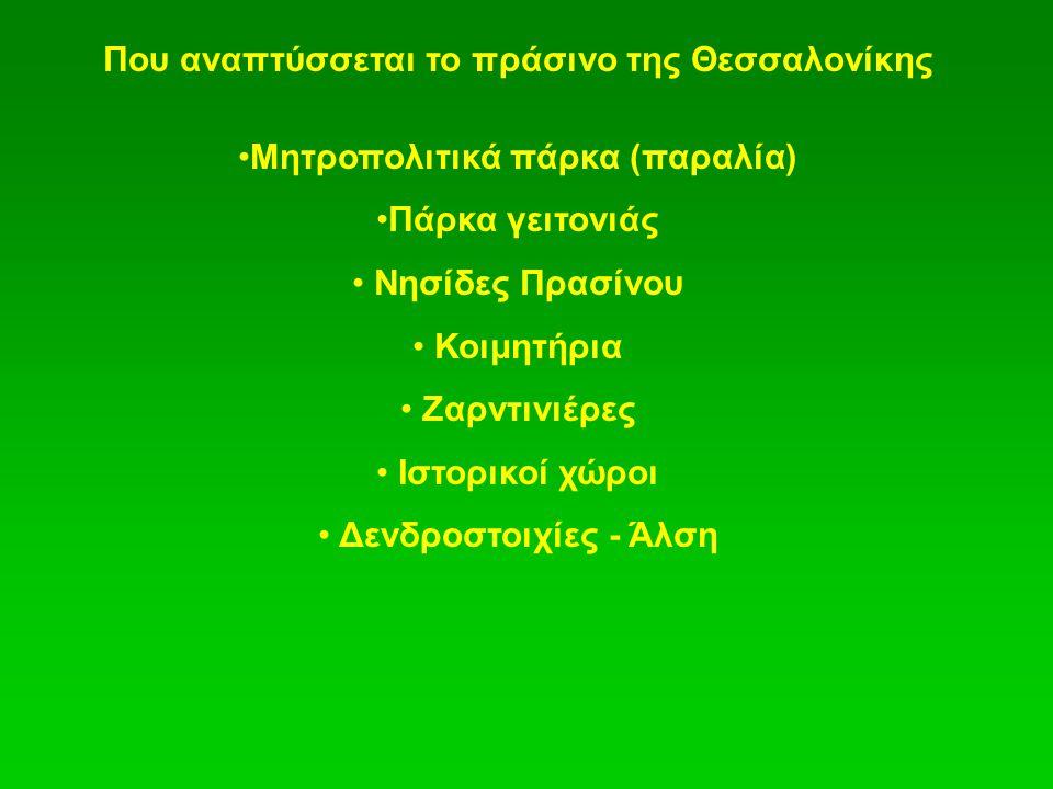 Που αναπτύσσεται το πράσινο της Θεσσαλονίκης