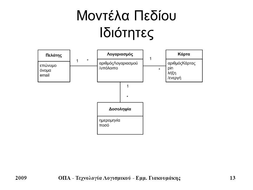 Μοντέλα Πεδίου Ιδιότητες
