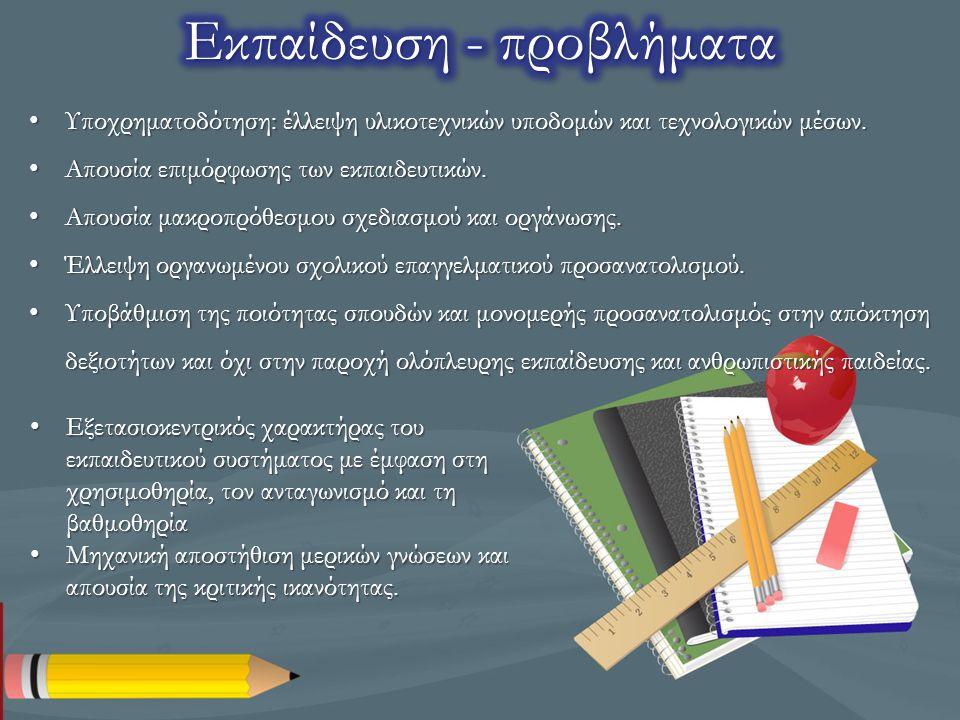 Εκπαίδευση - προβλήματα
