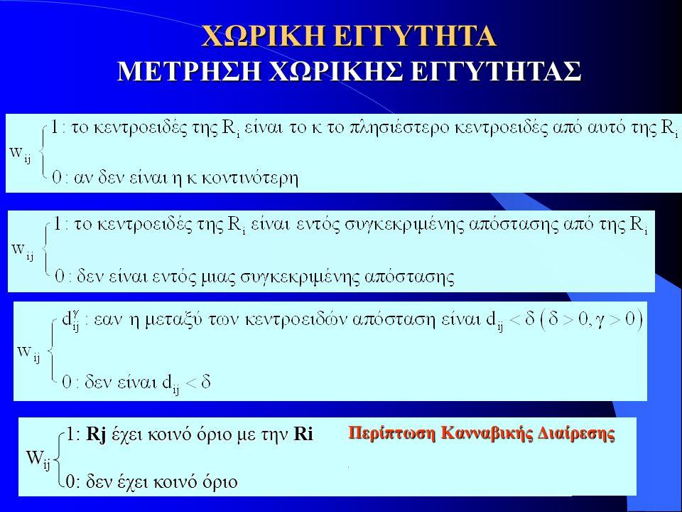 ΜΕΤΡΗΣΗ ΧΩΡΙΚΗΣ ΕΓΓΥΤΗΤΑΣ