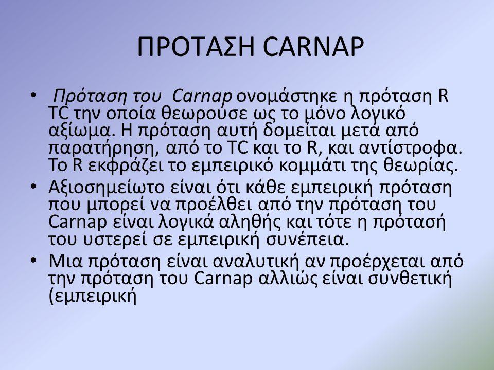 ΠΡΟΤΑΣΗ CARNAP