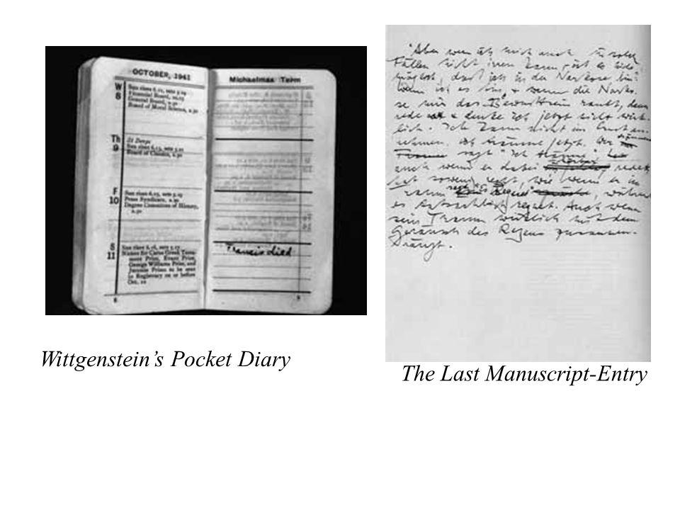 Wittgenstein's Pocket Diary