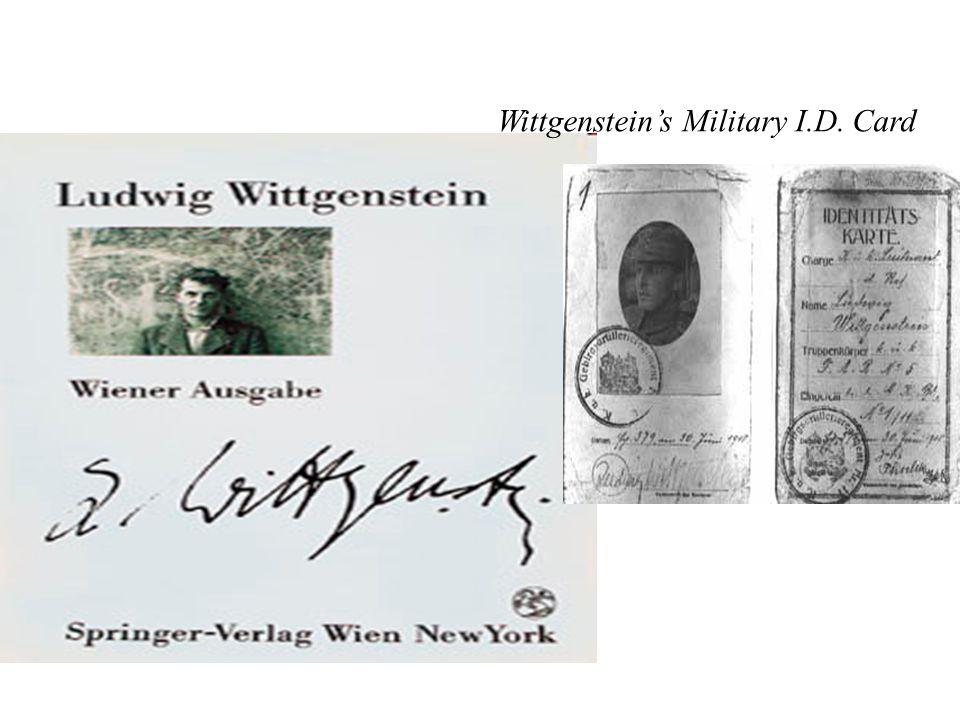 Wittgenstein's Military I.D. Card
