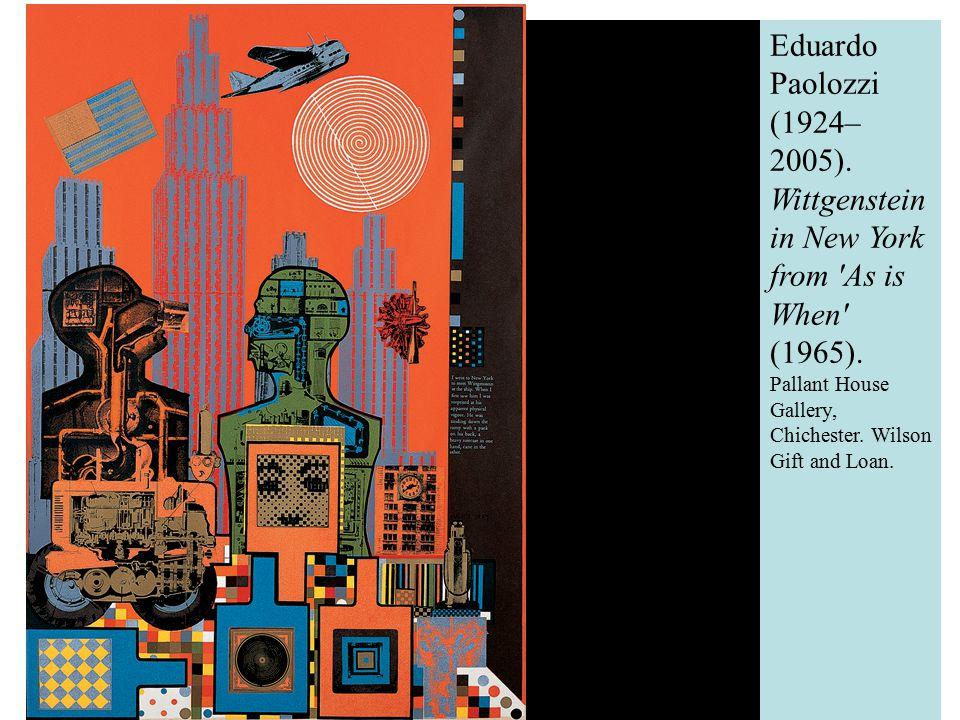 Eduardo Paolozzi (1924–2005). Wittgenstein in New York from As is When (1965).