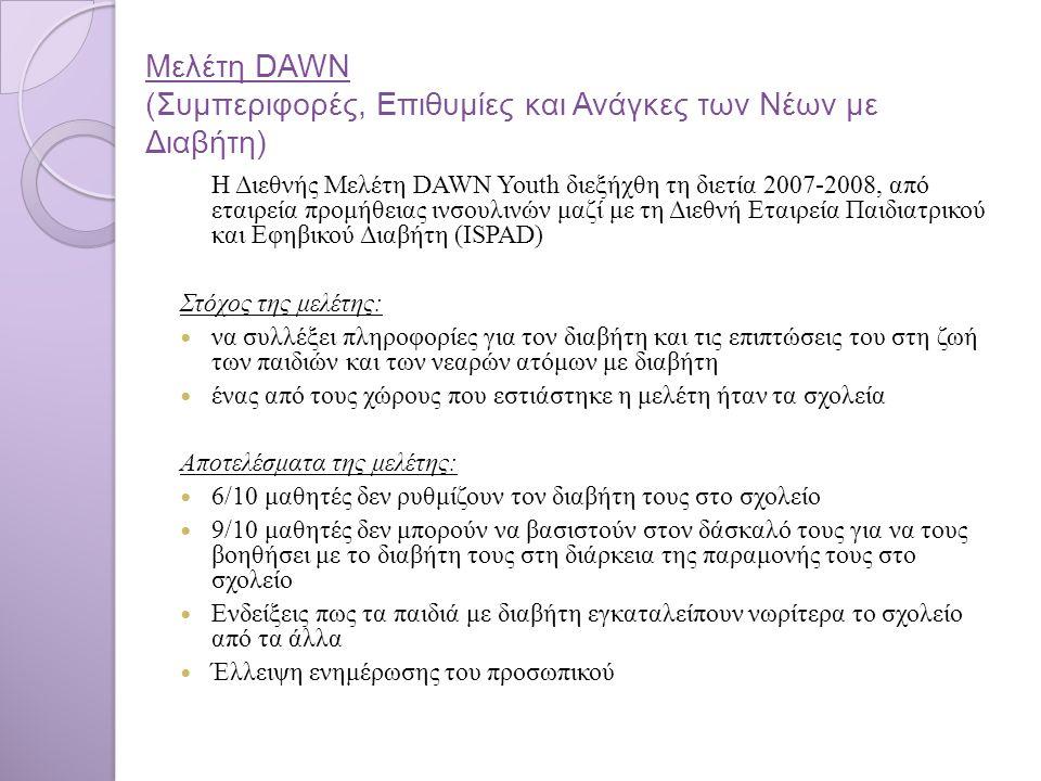 Μελέτη DAWN (Συμπεριφορές, Επιθυμίες και Ανάγκες των Νέων με Διαβήτη)