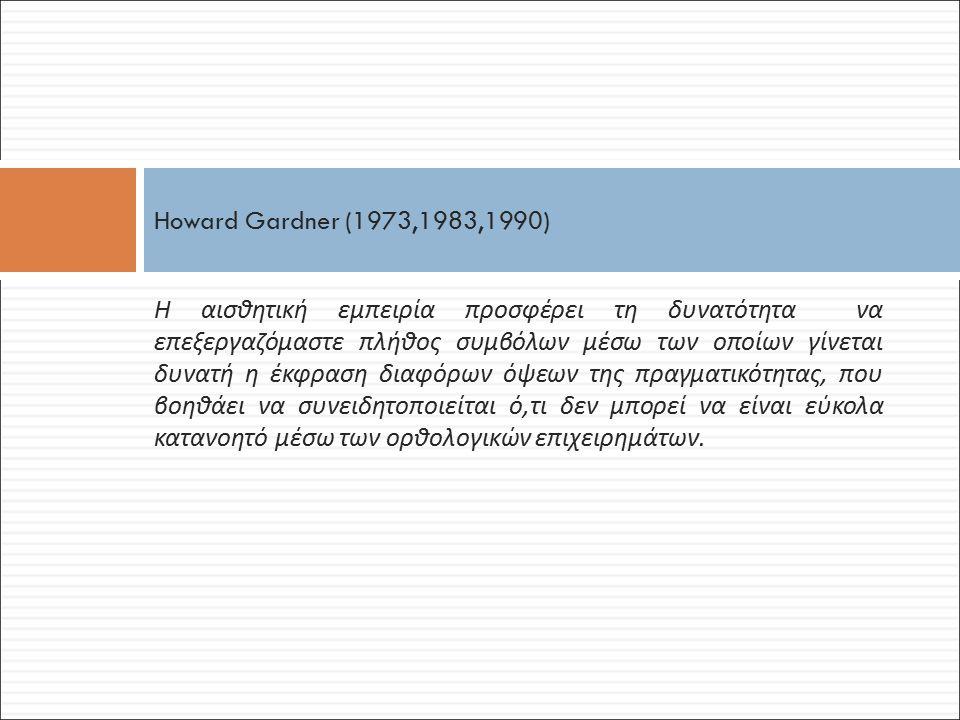 Howard Gardner (1973,1983,1990)