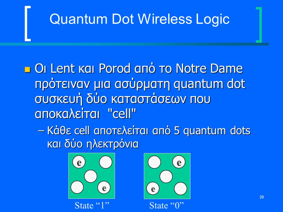 Quantum Dot Wireless Logic