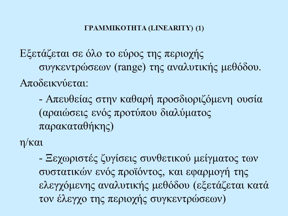 ΓΡΑΜΜΙΚΟΤΗΤΑ (LINEARITY) (1)