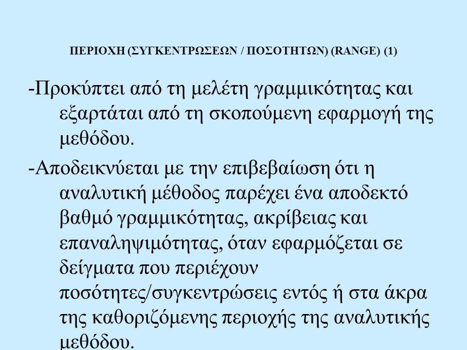 ΠΕΡΙΟΧΗ (ΣΥΓΚΕΝΤΡΩΣΕΩΝ / ΠΟΣΟΤΗΤΩΝ) (RANGE) (1)