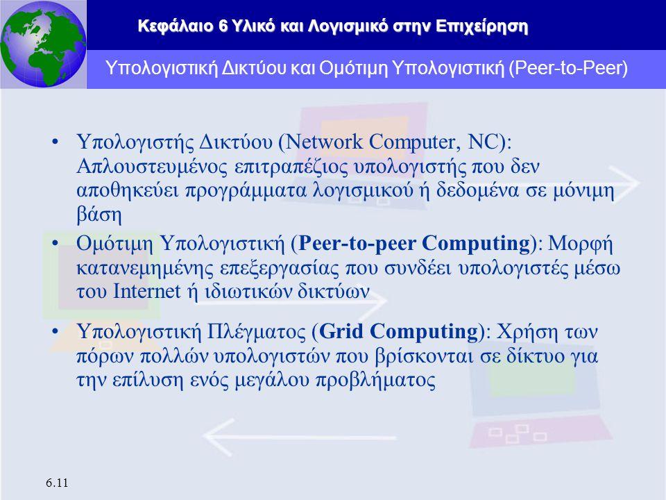 Υπολογιστική Δικτύου και Ομότιμη Υπολογιστική (Peer-to-Peer)